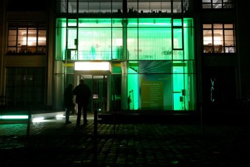 Franken Architekten Exhibition Facade © Till Budde