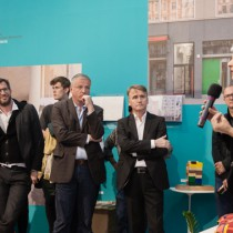 Urban Living exhibition at the DAZ, Berlin / opening with BDA vice president Kai Koch, Dr. Thomas Welter, DAZ Matthias Böttger and curator Kristien Ring /  photo © schnepp • renou