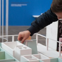 Urban Living exhibition at the DAZ, Berlin / core living space model by ifau and Jesko Fezer - participate! - build you own ideal spaces in the exhibition / photo © schnepp • renou